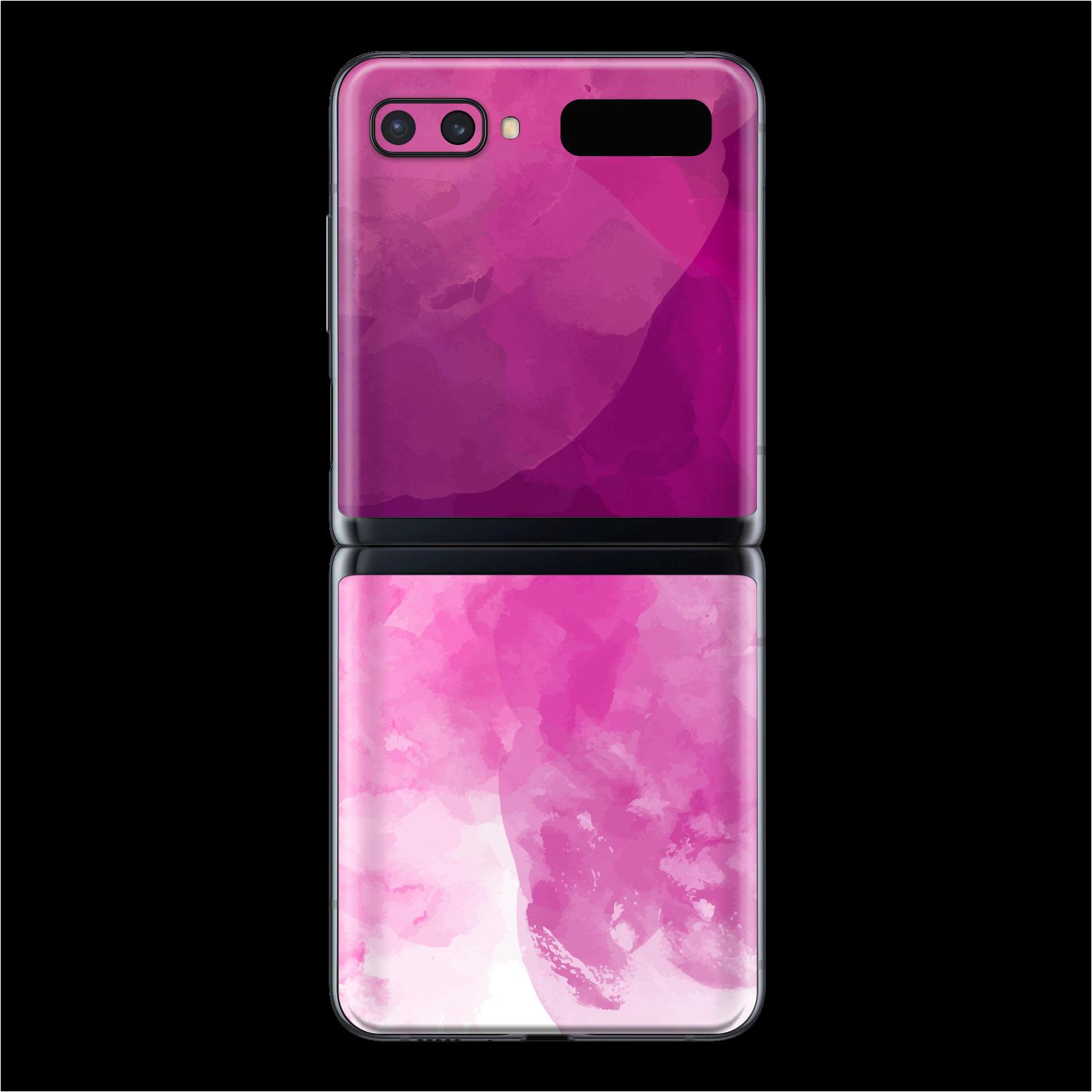 Samsung Galaxy Z Flip SIGNATURE Magenta Watercolour Skin