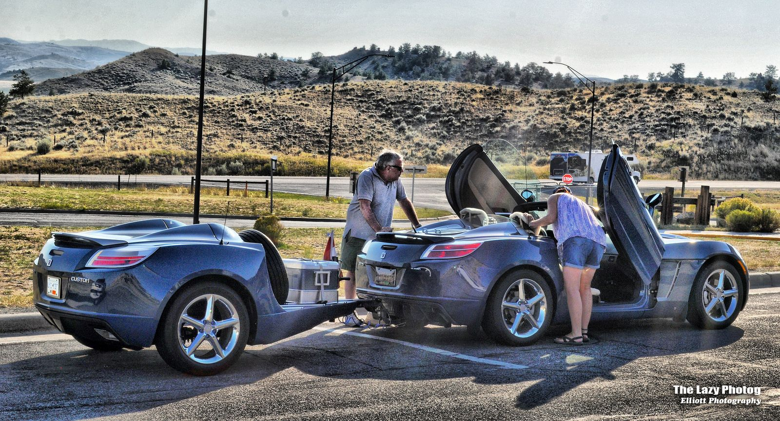All Sizes Aug 21 2017 Saturn Sky Custom With Matching Trailer Flickr Photo Sharing