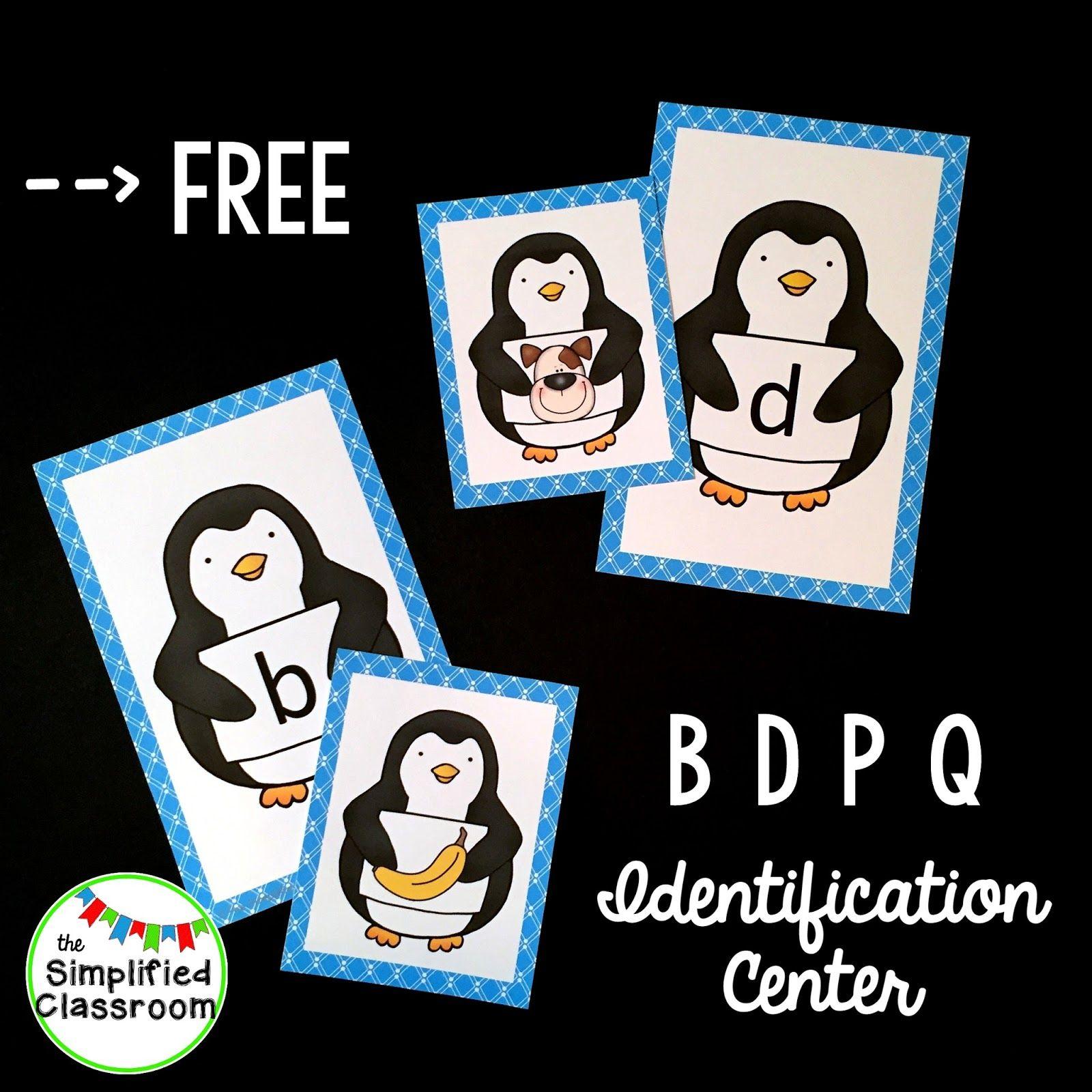 Penguin Letter Identification Freebie For B D P Amp Q