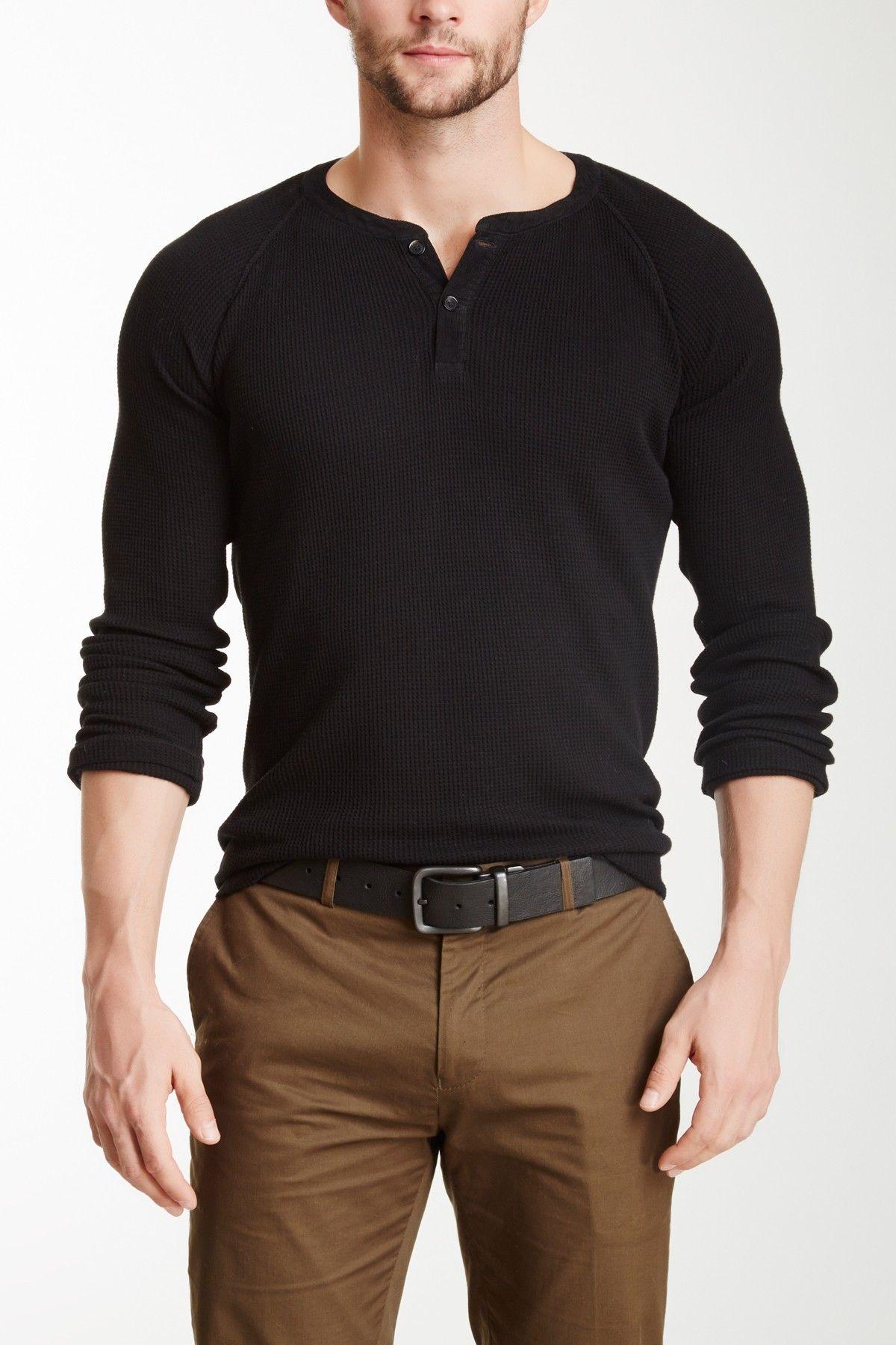 Billy Reid Thermal Henley Shirt Shirtmen Shirts Mens Outfits Mens Fashion Mens Fashion Rugged [ 1800 x 1200 Pixel ]