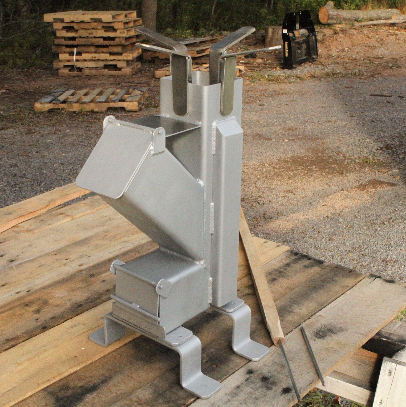 Stainless Steel Accessorized Self Feeding Rocket Stove Rocket