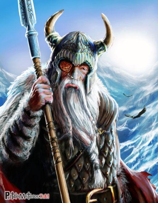 imagen del antiguo dios nordico odin