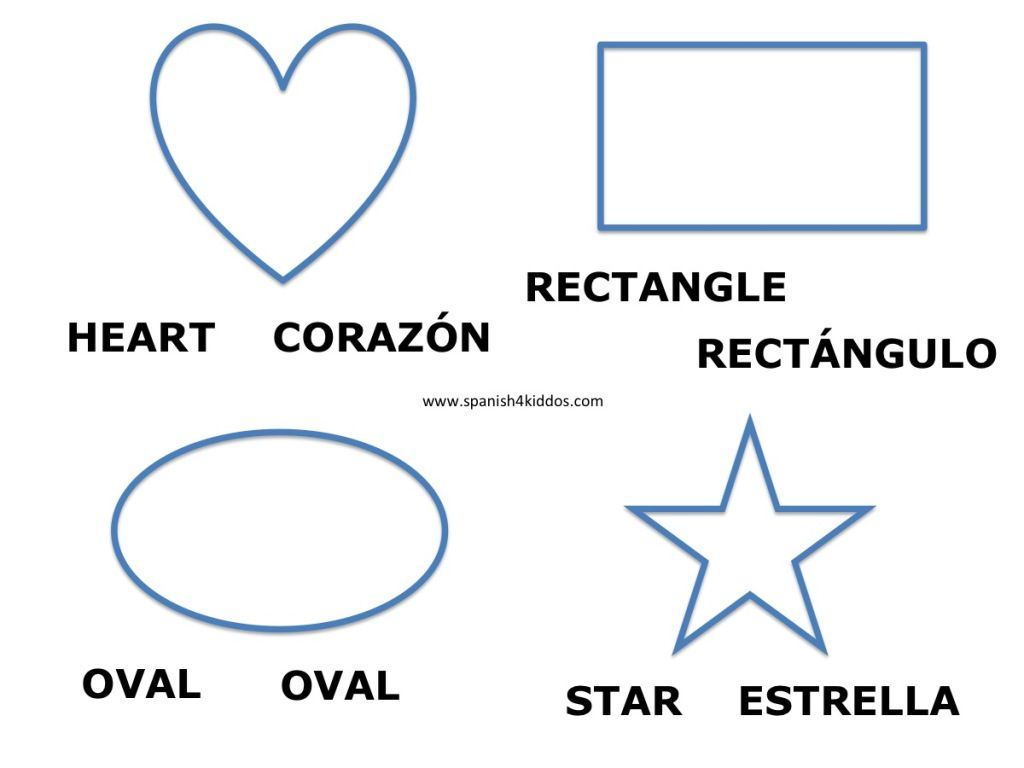 shapes in spanish and english spanish worksheets shapes in spanish spanish worksheets. Black Bedroom Furniture Sets. Home Design Ideas