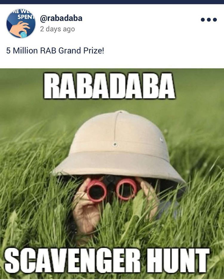 Rabadaba Official On Instagram Would You Like To Take Part In A Scavengerhunt With The Chance To Win Scavenger Hunt Instagram Posts Social Media Platforms