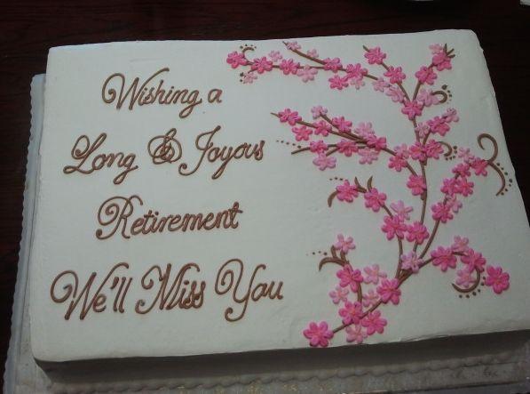 Retirement Cake Ideas Pinterest Cakepins Com Retirement