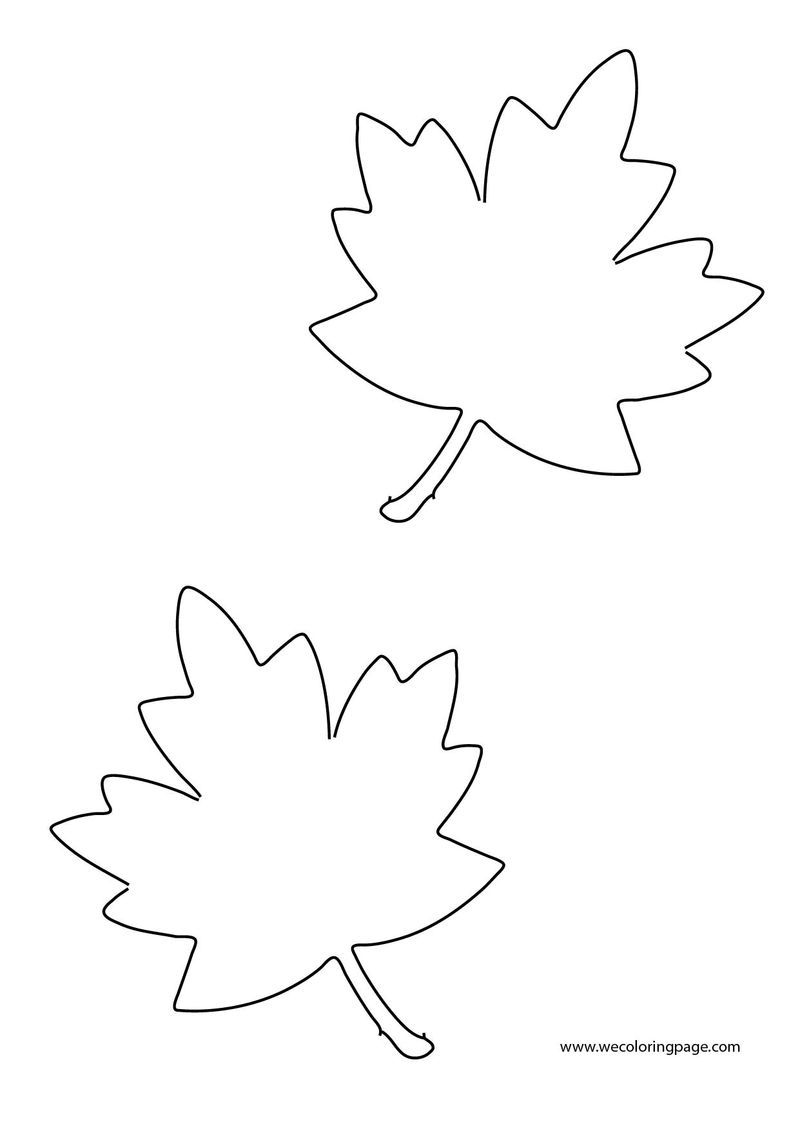 Two Fall Leaf Coloring Page Leaf Coloring Page Train Coloring Pages Coloring Pages