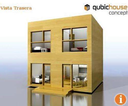 Casa minimalista y economica en forma de cubo fachadas for Mini casa minimalista