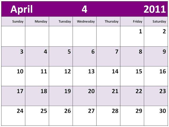 Fun April  Calendar Printable  Free Printable Calendars