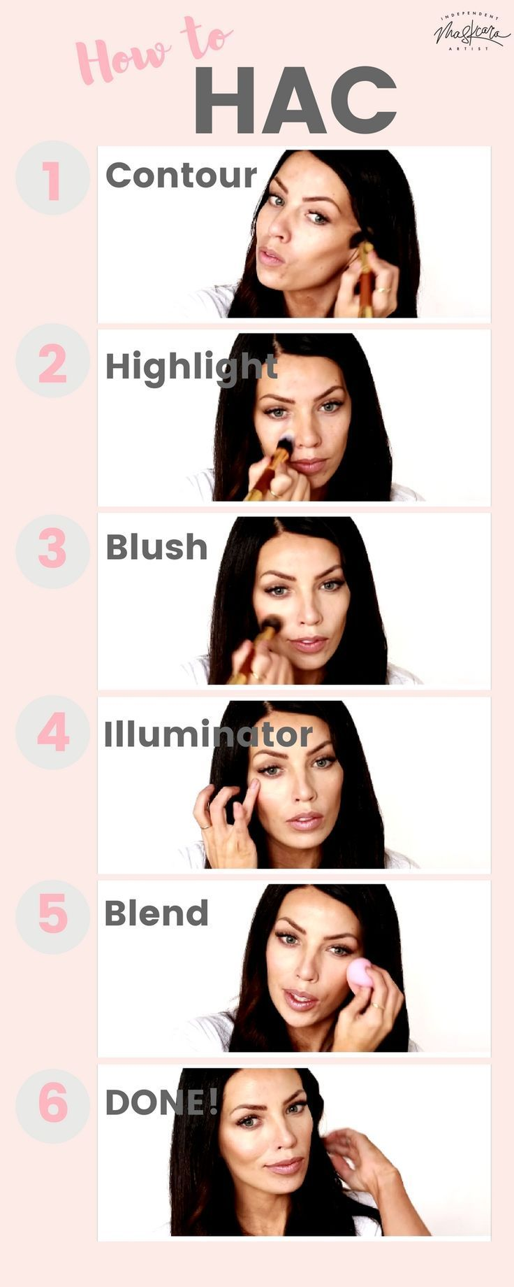 How to hac maskcara makeup tutorial how to hightlight and contour how to hac maskcara makeup tutorial how to hightlight and contour beauty tips pinterest contours make up and makeup guide baditri Images