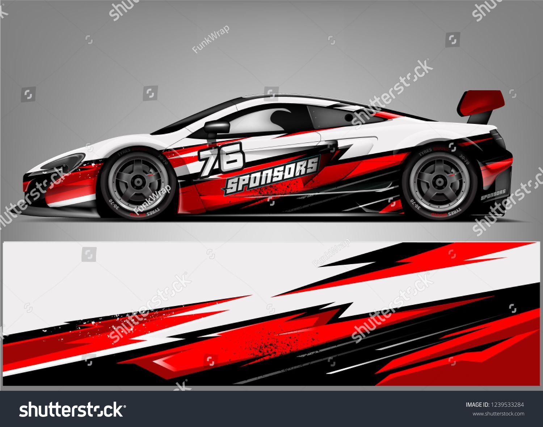 Branding Design For Custom Sport Racing Car Vector