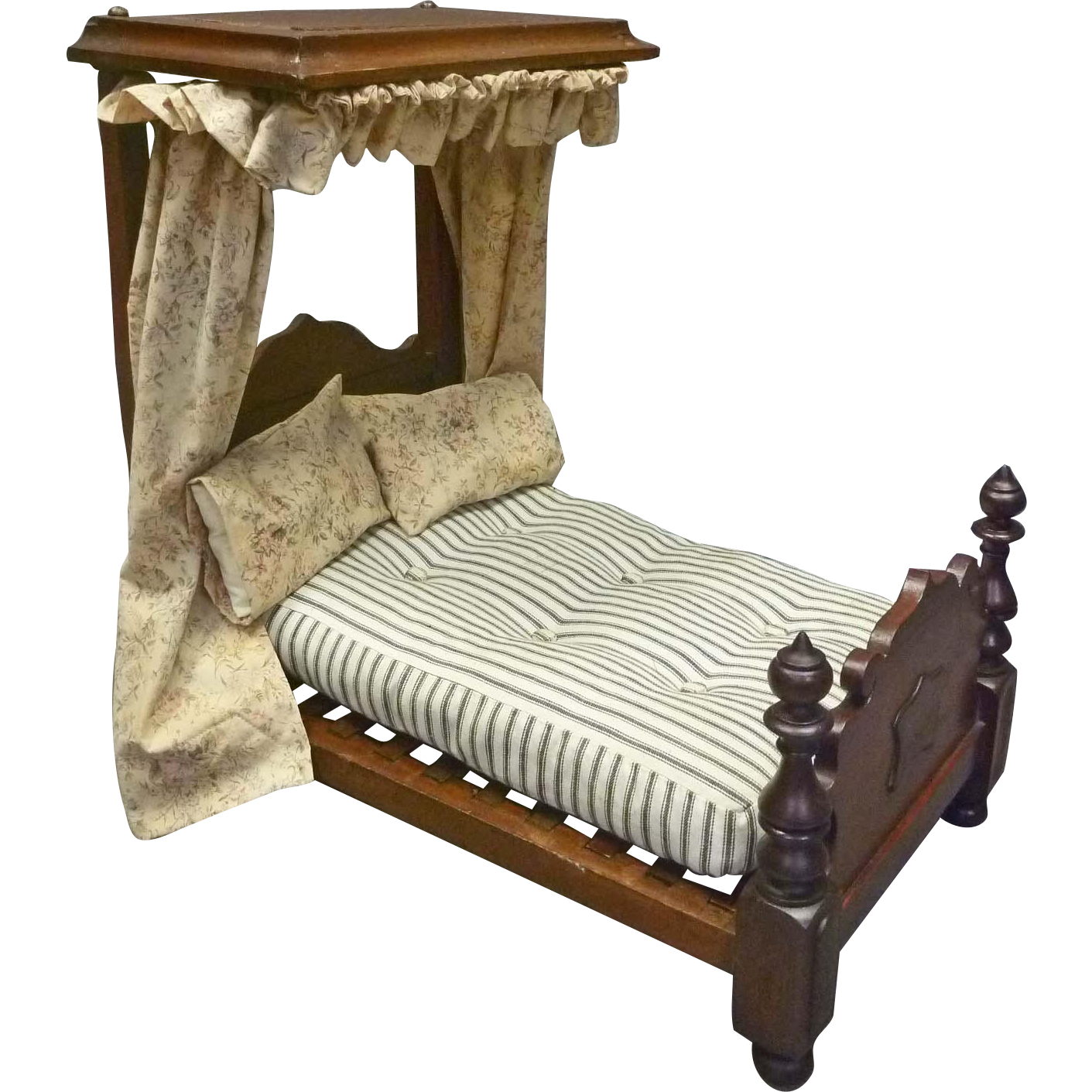 This Walnut Victorian Doll Bed Is Rare Due To Its