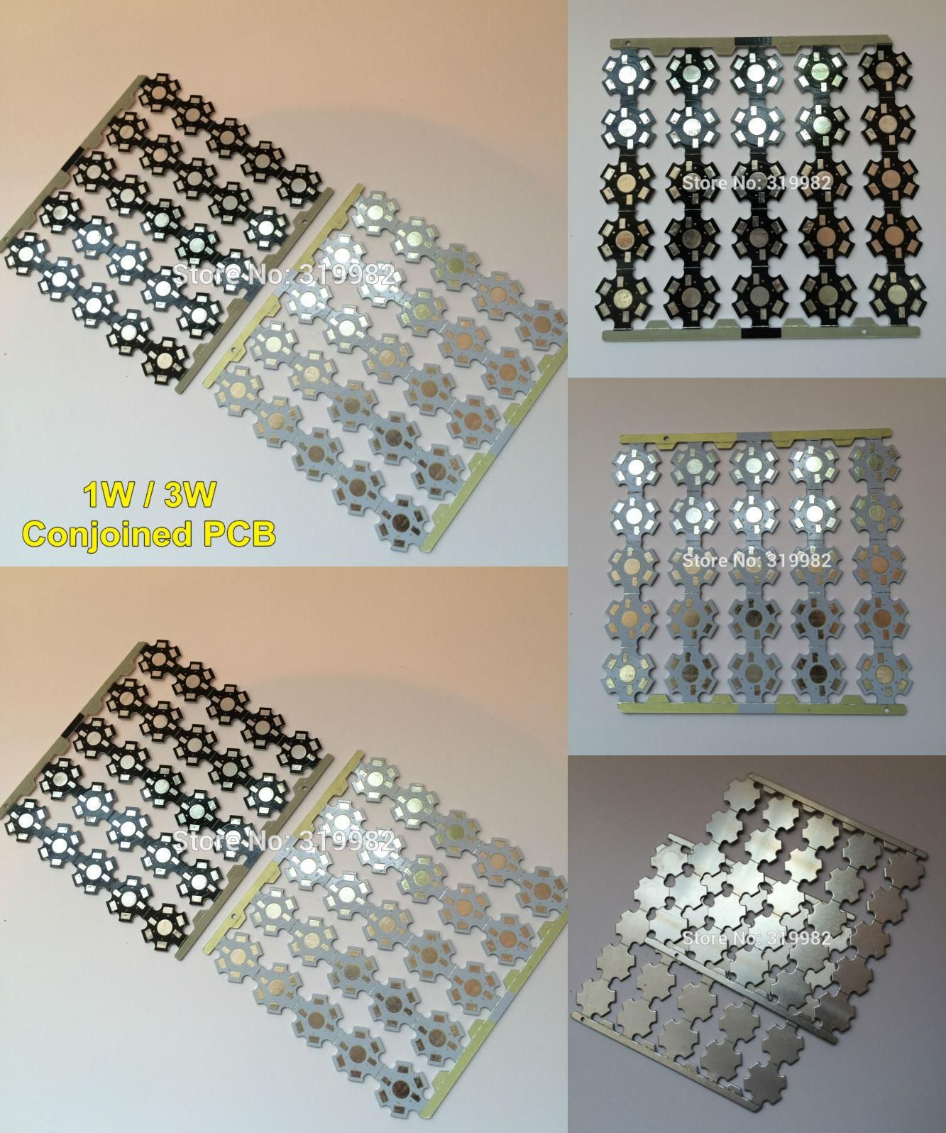 25 pcs//lot  LED star PCB Board for 1W 3W 5W Single LEDs High Power LED Heatsink