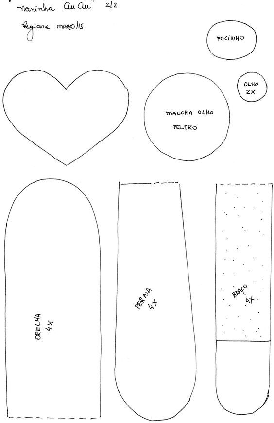 Como hacer almohadas con forma de perritos con moldes - Ideas de ...