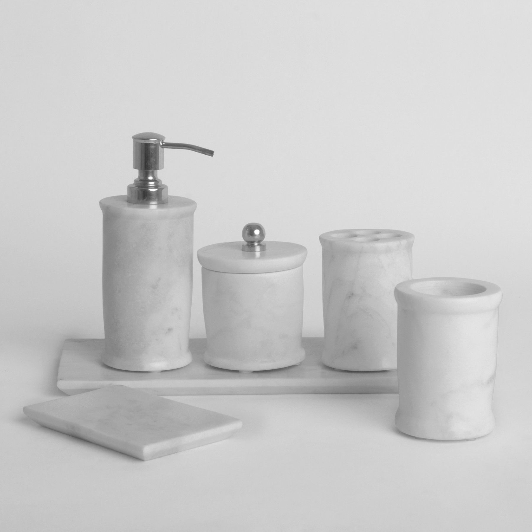 Stoneware bathroom accessories - Cade Marble Bath Set Bathroom Accessories Bath