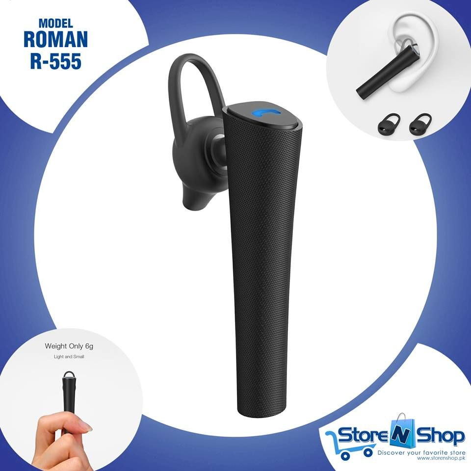 Roman R555 Multi Functional Wireless Bluetooth Headset Ergonomic Ear Hook And Skin Friendly Multi Functional Ligh Online Shopping Stores Stuff To Buy Shopping