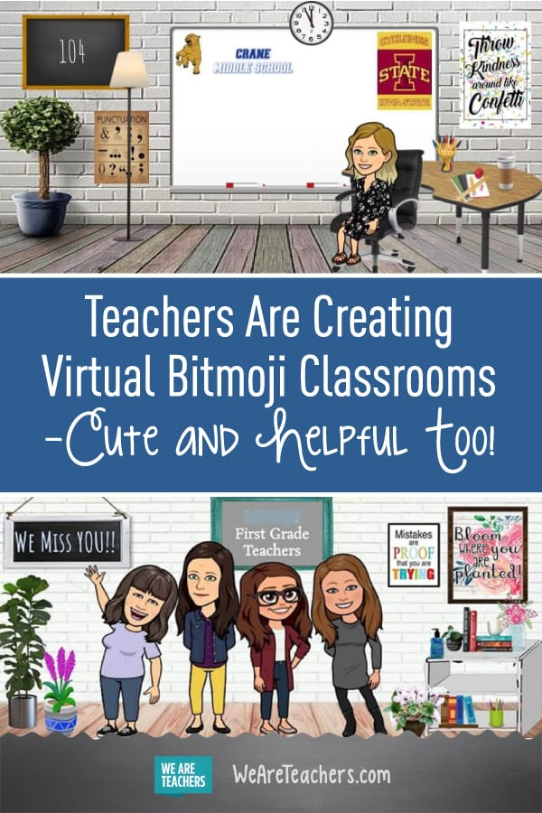 Teachers Are Creating Virtual Bitmoji Classrooms Cute And Helpful Too In 2020 Google Classroom Elementary Digital Learning Classroom Teacher Technology