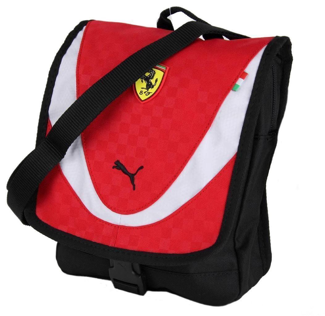 7d2e52ba59 NEW NWT PUMA PREMIUM FERRARI F1 PORTABLE SHOULDER MESSENGER BAG RED PMMO1025