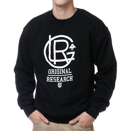 6dd7850d Type Treatment Design : LRG Lrgents Fleece Black #Crewneck #Sweatshirt