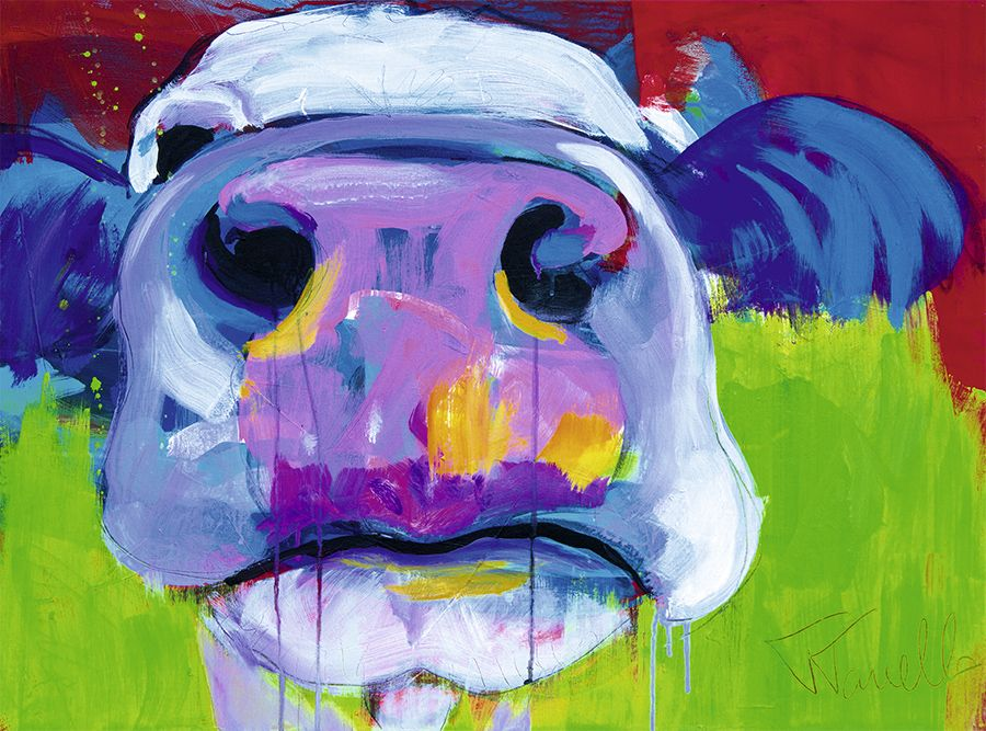 cow art kuh kunst susi acrylic on canvas 70x40 cm. Black Bedroom Furniture Sets. Home Design Ideas