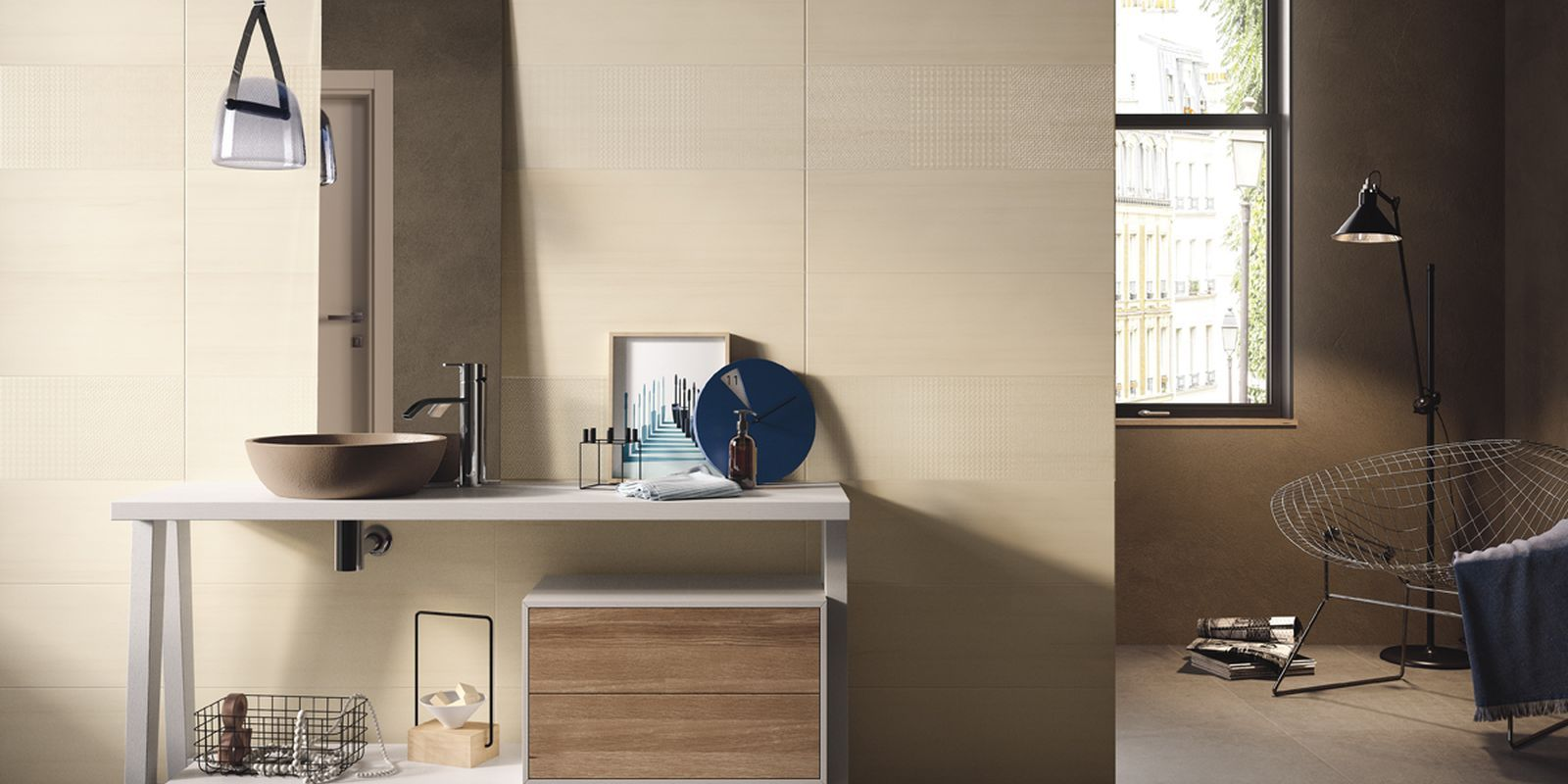 Piastrelle shades bagno moderno ceramica bicottura da - Ceramica bagno moderno ...