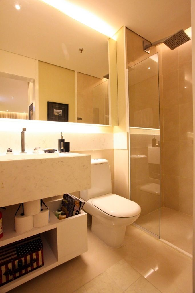 Banheiros Com Espelhos Flutuantes E Iluminados Em 2020