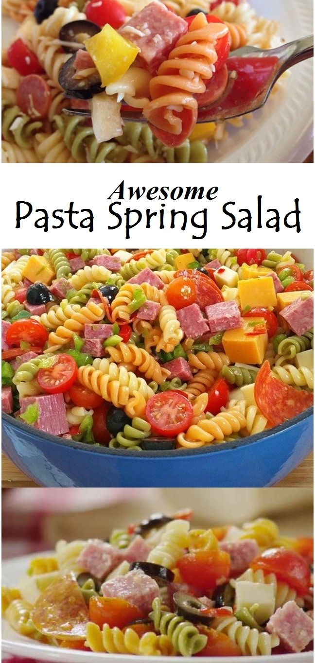Awesome Pasta Spring Salad