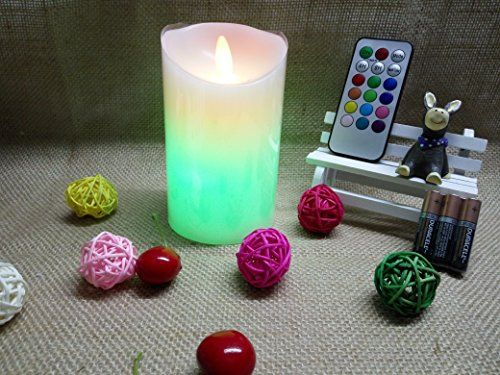 3 Aaa Batteries Includedtimerlaprobing Remote Control Flickering Flameless Candles Timer Battery Operated Real W Timer Candles Flameless Candles Pillar Candles
