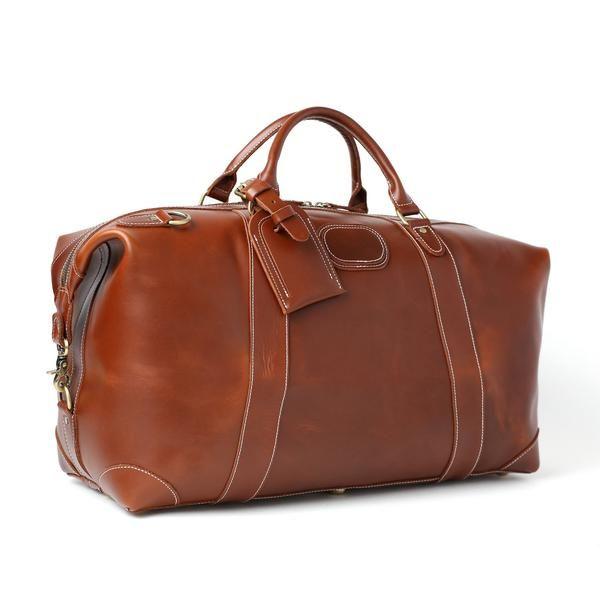 0493fca35 Vintage Leather Duffle Bag, Leather Travel Bag, Mens Weekend Bag ...
