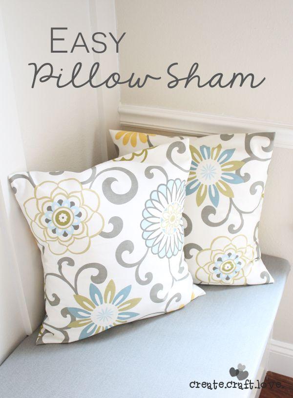 Easy Pillow Sham Cover Diy Pillows Pillows Pillow Shams