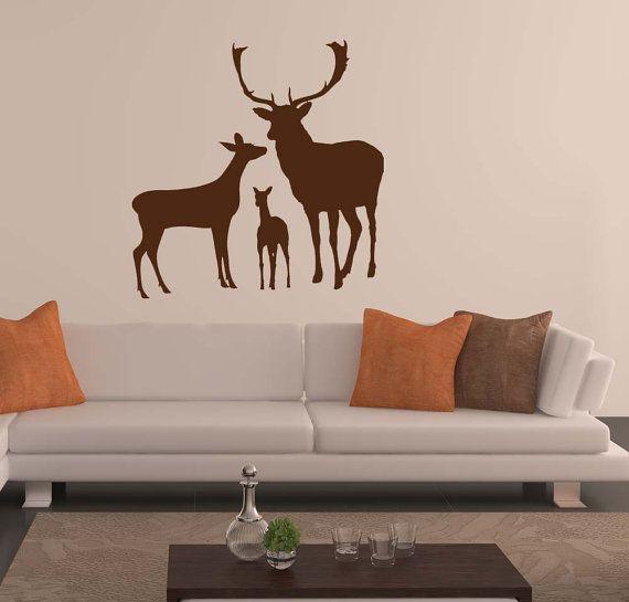 Deer Family Fawn Deer Antler Deer Decor Buck And Doe