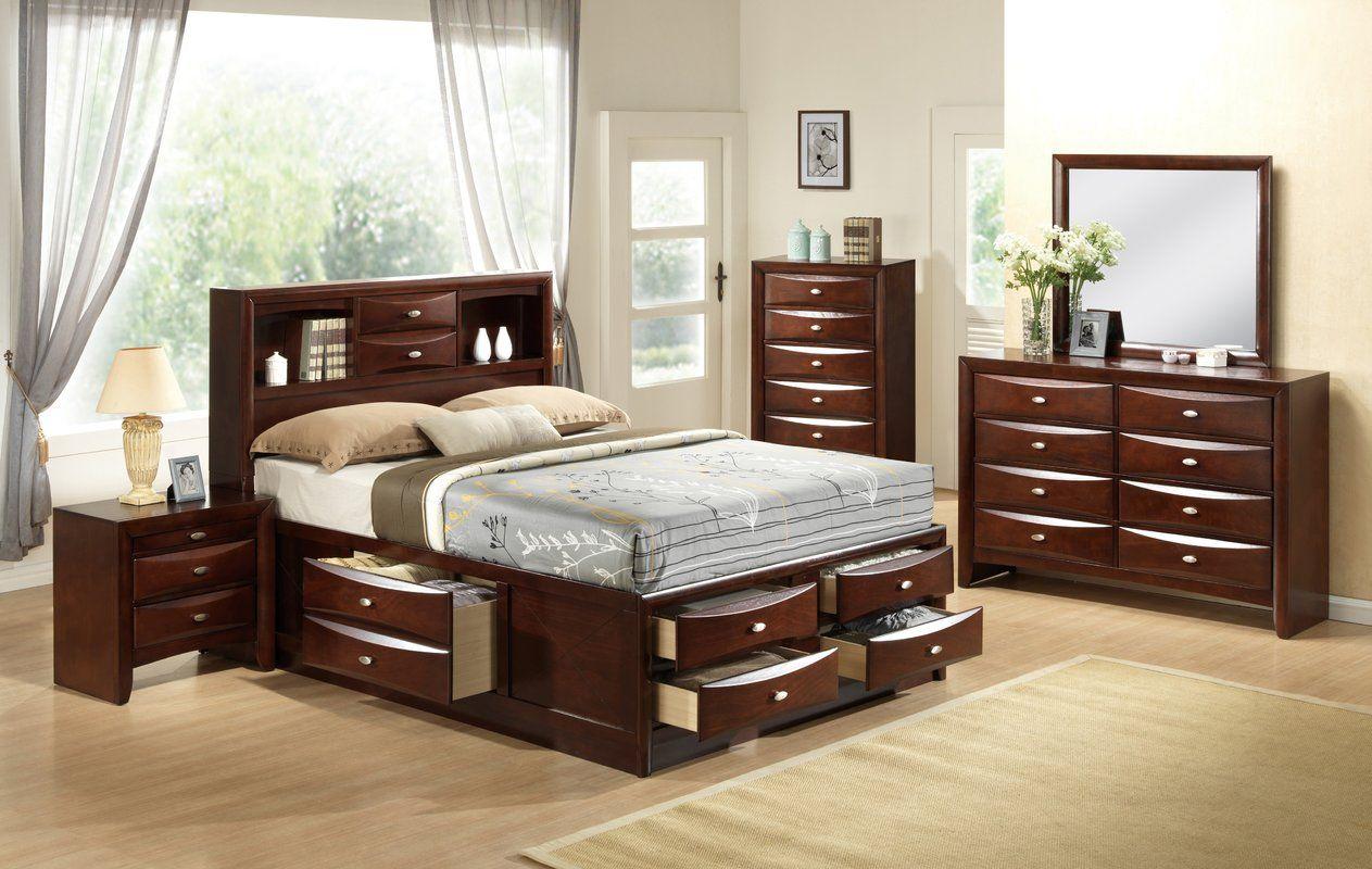 Treadwell Storage Platform Bed  Queen sized bedroom sets, Bedroom