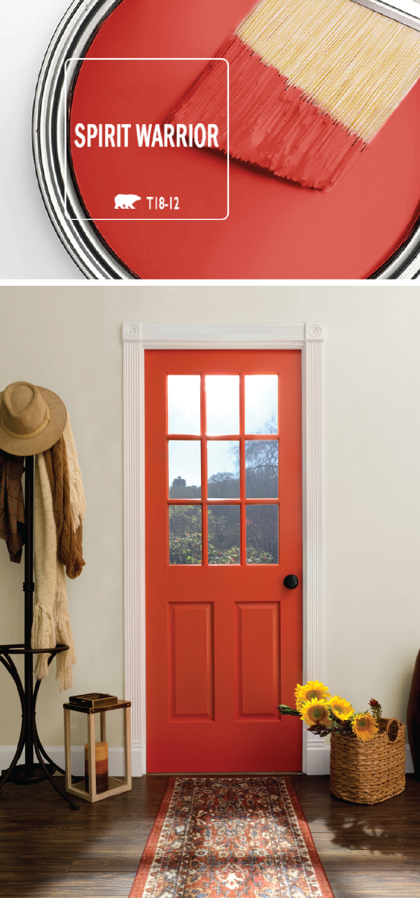 Add  bright pop of color to the interior design your home with help spirit warrior by behr paint this vivid red shade acts as modern accent also rh pinterest