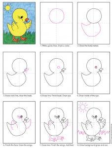 draw a baby chick apfk tutorials pinterest pdf tutorials and