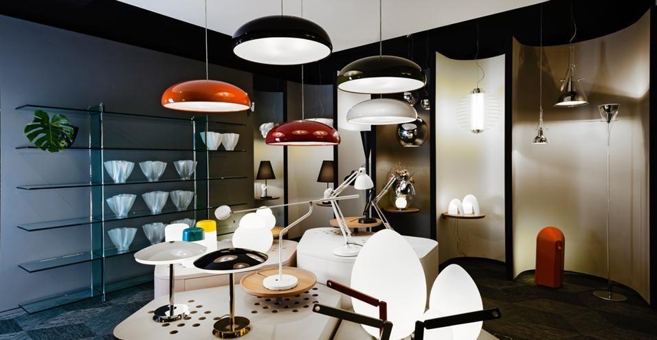 Fontanaarte showroom milano our house lampade and arte