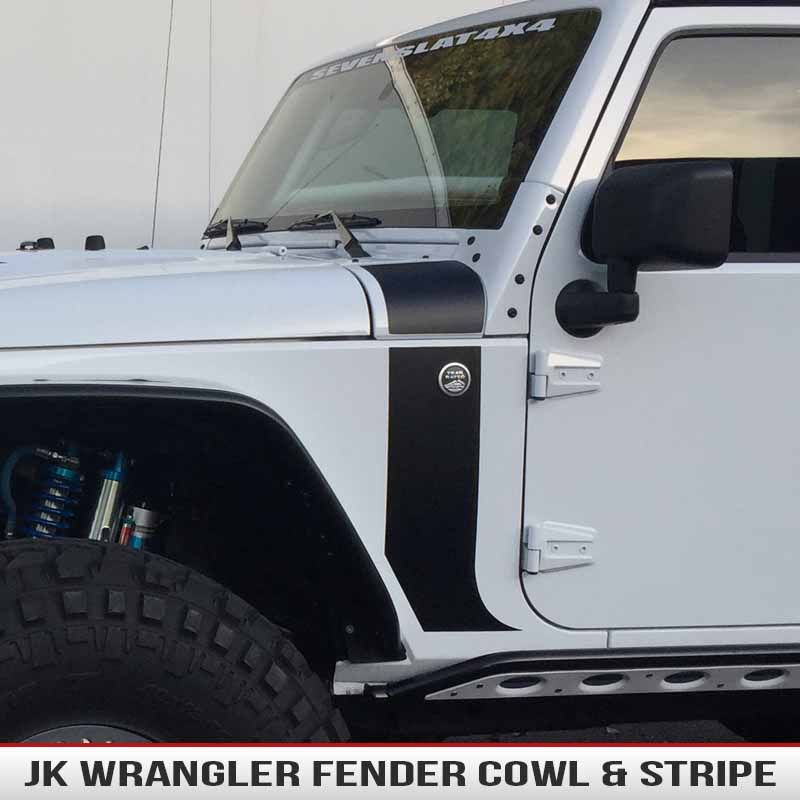 Wrangler Jk Hood Cowl Stripe Alphavinyl Jeep Wrangler