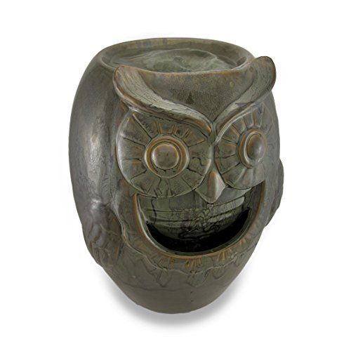Green Ceramic Owl Table Top Water Fountain Things2Die4 http://www.amazon.com/dp/B00L2MOYJ8/ref=cm_sw_r_pi_dp_AEa8tb06A5JK8