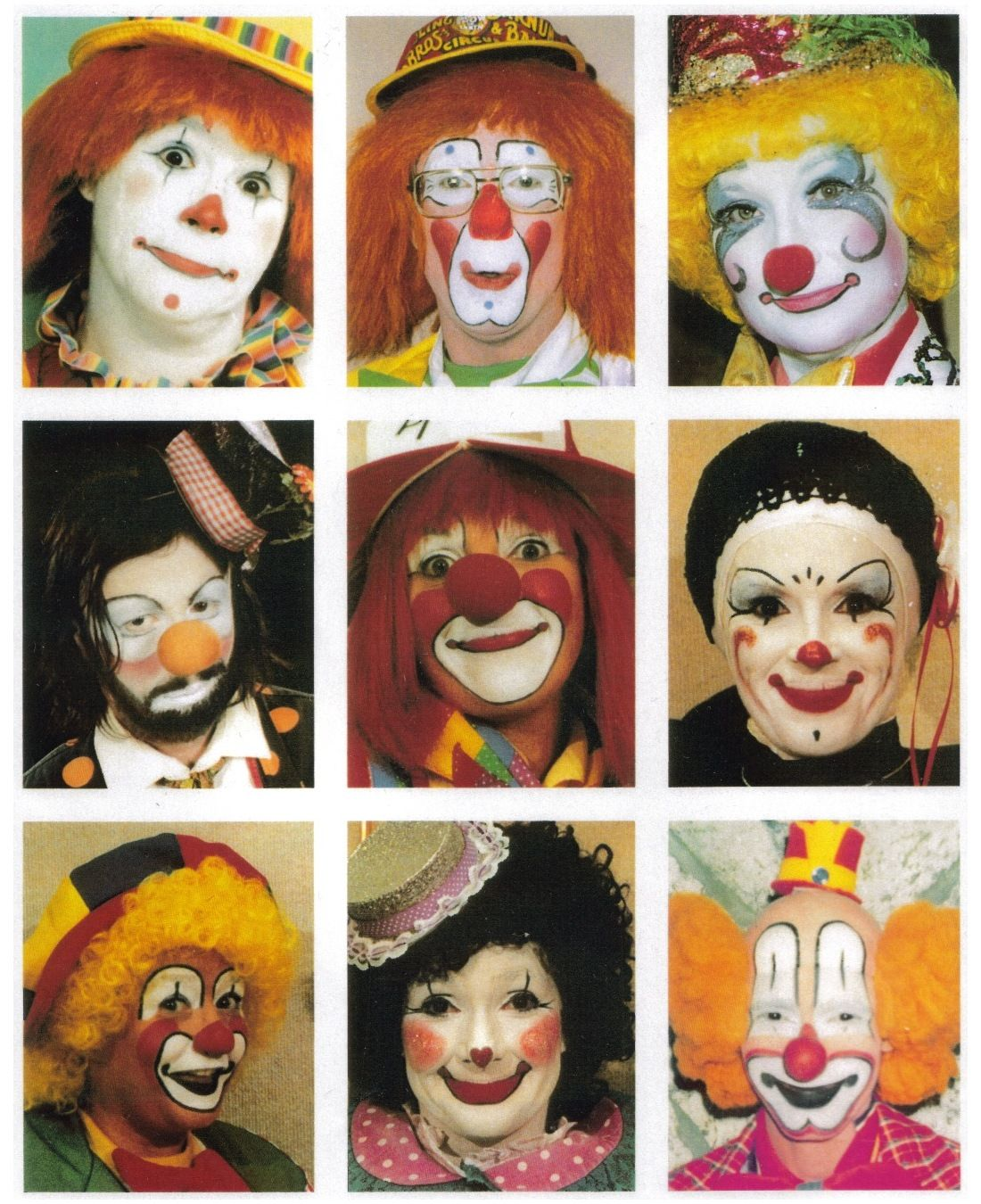 clown faces clown faces clowning pinterest. Black Bedroom Furniture Sets. Home Design Ideas