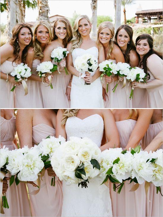 Classic White And Ivory Wedding | White wedding bouquets, Weddings ...