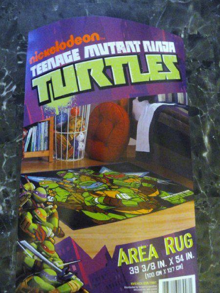 Age Mutant Ninja Turtles Area Rug Home Kitchen Boys Turtle Room