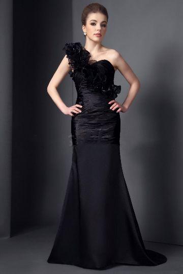 Graceful Flowers Mermaid/Trumpet One-Shoulder Floor-Length 2015 Bridesmaid Dress