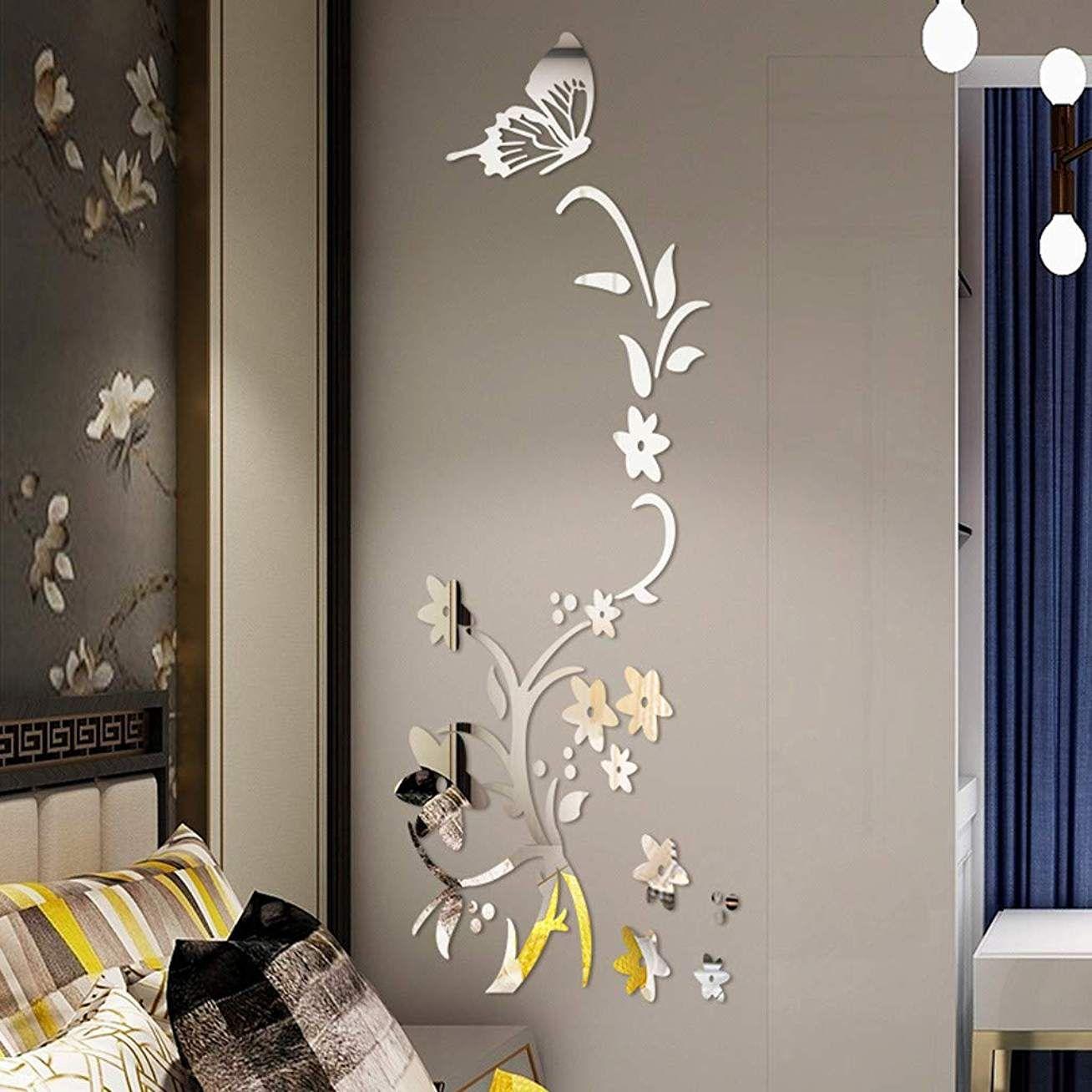Papier Peint Effet Miroir 3d acrylique sticker muraux moderne sticker miroir effet
