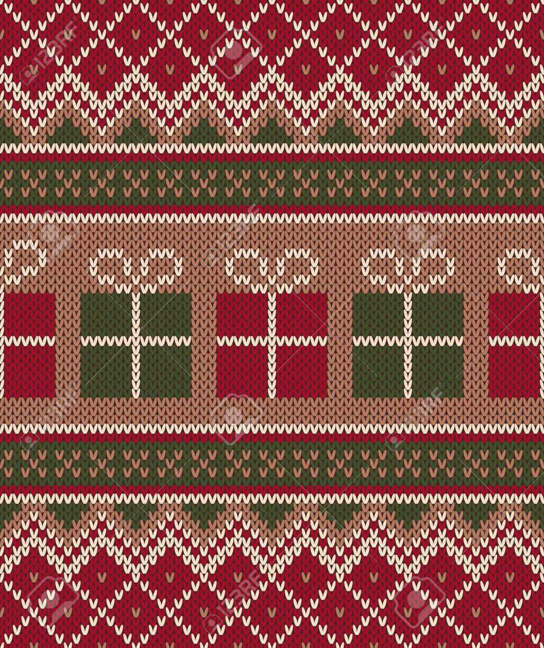 fbff38f85507 Christmas Sweater Design. Seamless Knitting Pattern