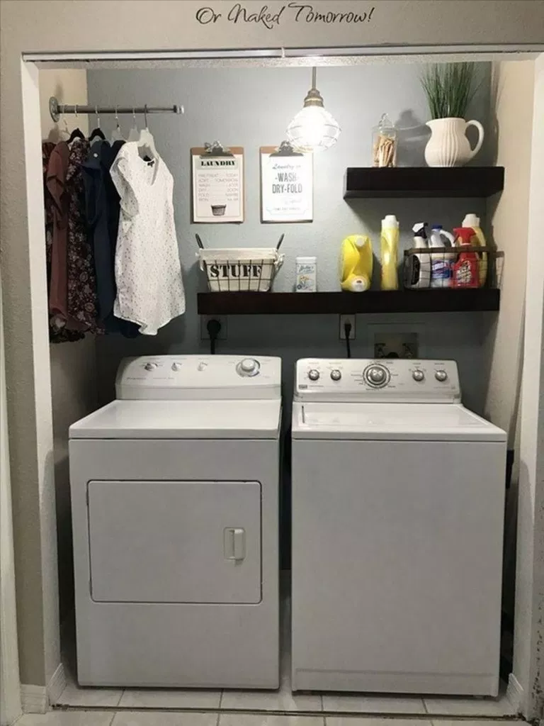 ✔51 beautiful and simple small laundry room decorating ideas to copy 51 images