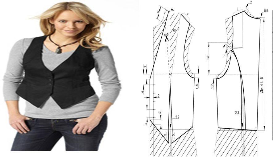 chaleco-de-vestir-con-patrones | moda | Pinterest | Chalecos de ...