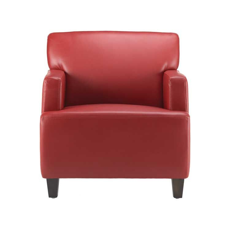 Modern Style Red Leather Accent Chair Seattle Furniture