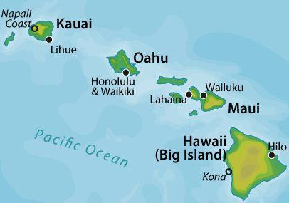 karta maui HAWAII: Napali Coast, Kauai; Honolulu, Oahu; Lahaina, Maui; Hilo  karta maui