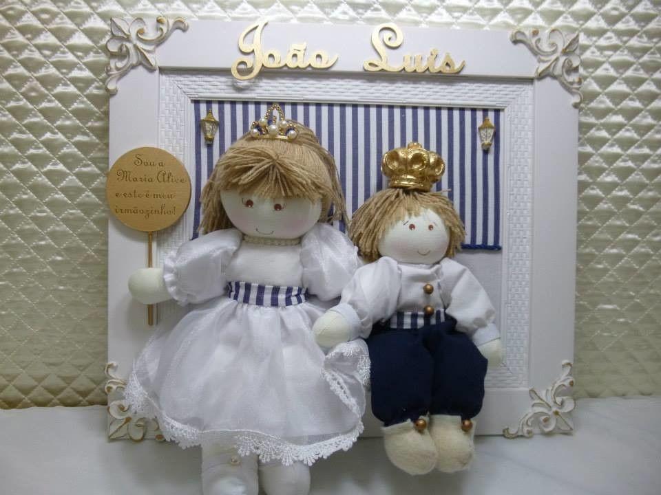 Porta Maternidade Irmãos | Ateliê Luciana Coutinho Baby Decor | Elo7