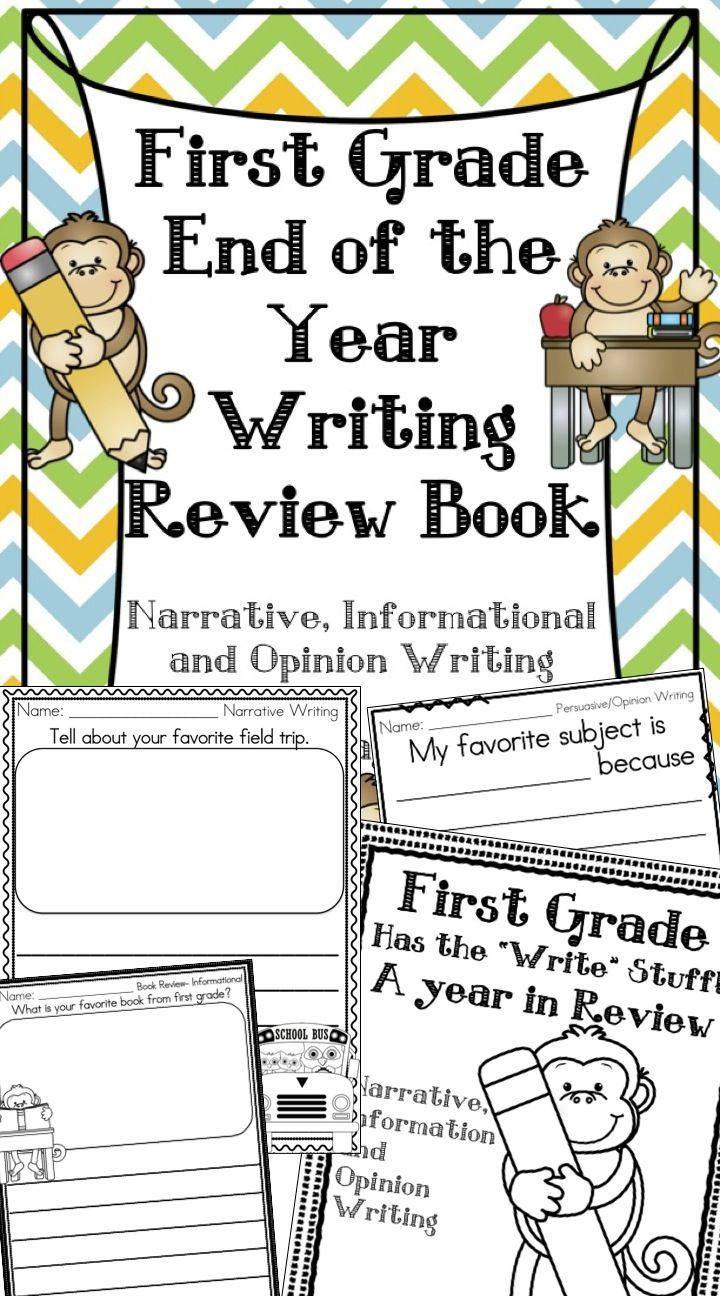 End Of The Year First Grade Writing Review Memory Book First Grade Writing 1st Grade Writing Classroom Writing [ 1296 x 720 Pixel ]