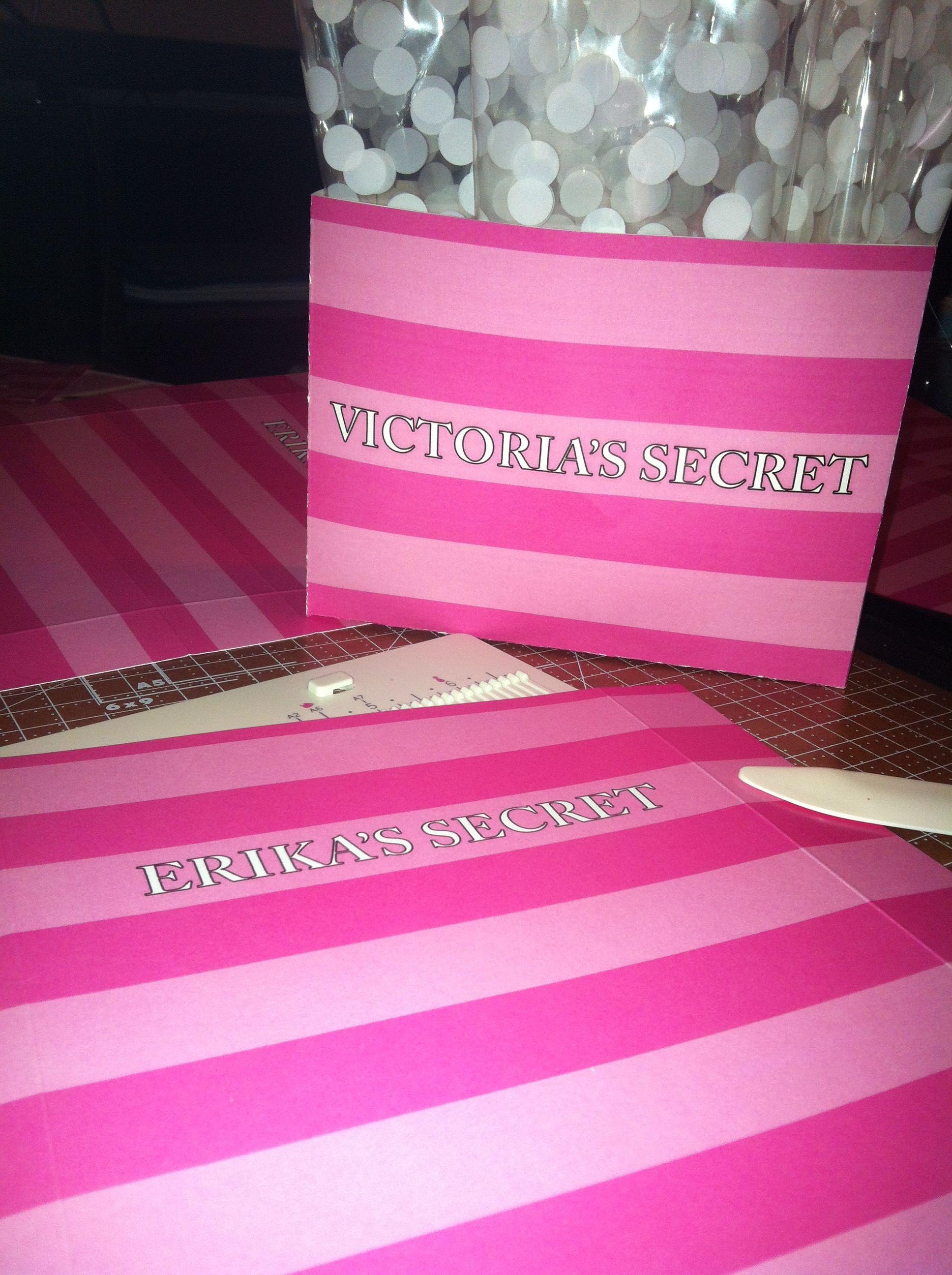 7676133ee5b1 Bridal Shower · Custom Victoria Secret Inspired Favour Bags! CUSTOM TO NAME  https   www.