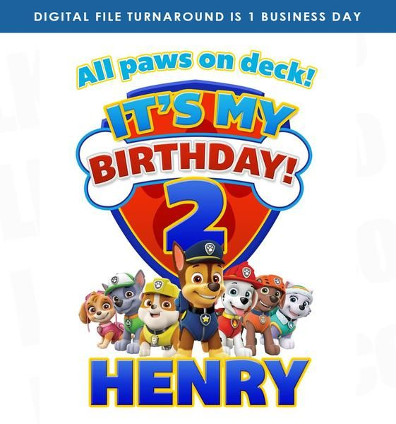Paw Patrol Iron On Transfer   It's My Birthday - Paw patrol birthday shirt, Paw patrol, Paw patrol birthday party, Paw patrol birthday, Paw patrol theme party, Its my birthday - Paw Patrol Iron On Transfers Click here to shop all Paw Patrol Designs • • • Item Description • • • This item is for doityourself (DIY) tshirt crafts  Our designs are printed onto Avery heat transfers for WHITE or LIGHT COLORED FABRICS  All instructions are included with your purchase for printed transfers  Digital